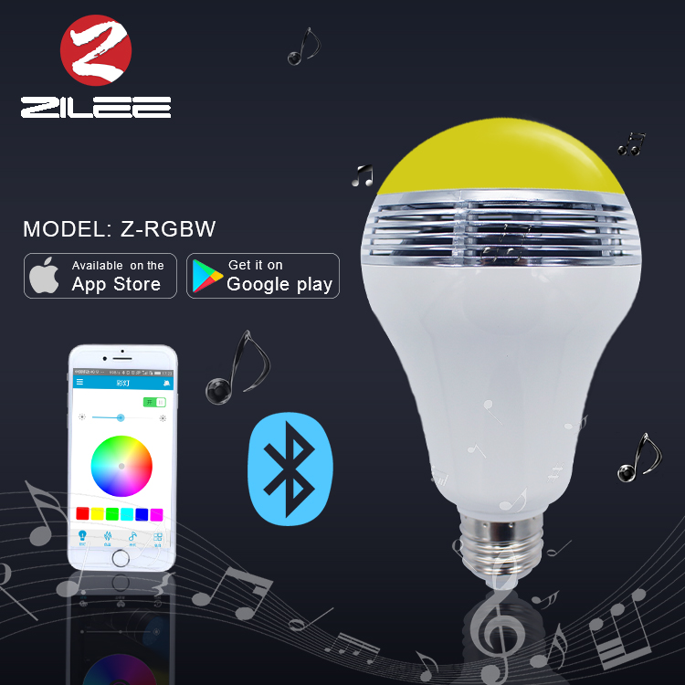 Retail price app led bulb, speaker led bulb for party list electronic items