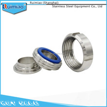 customize 304/316 sanitary stainless steel union pipe fittings