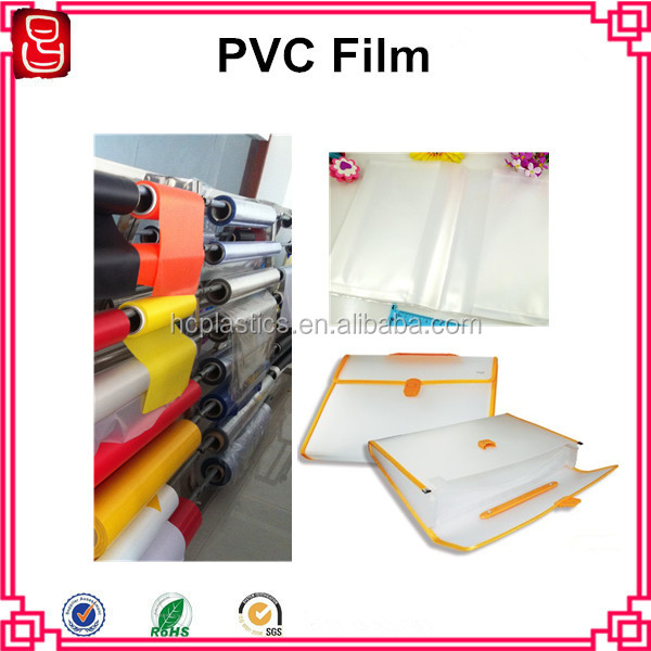 Soft Normal Clear PVC Film PVC Translucent Film For File Holder