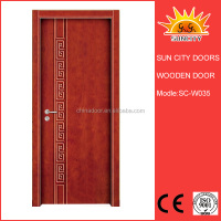 Indian design hand carved wood panel door SC-W035