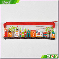 Custom PVC Pencil Bag /Plastic Material For School Stationery