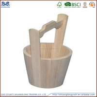 promotional wooden buckets with handles&antique wooden water bucket&wooden sauna spa bucket