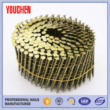 Wholesale China roofing coloured coil nail,screw coil nails
