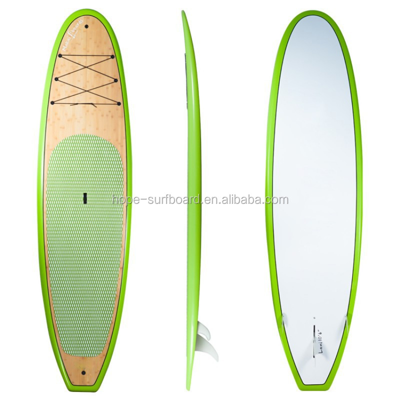 2017 New custom design fiberglass sup paddle board with fins