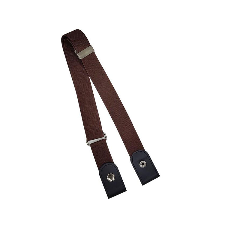 Wholesale Customized Size And Logo Leather Men Belt With Elastic
