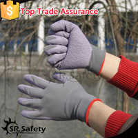 SRSAFETY 13 gauge rubber latex work gloves knitted gloves latex hand gloves