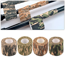 1 Roll Men Army Adhesive Camouflage Tape Stealth Wrap Outdoor Hunting