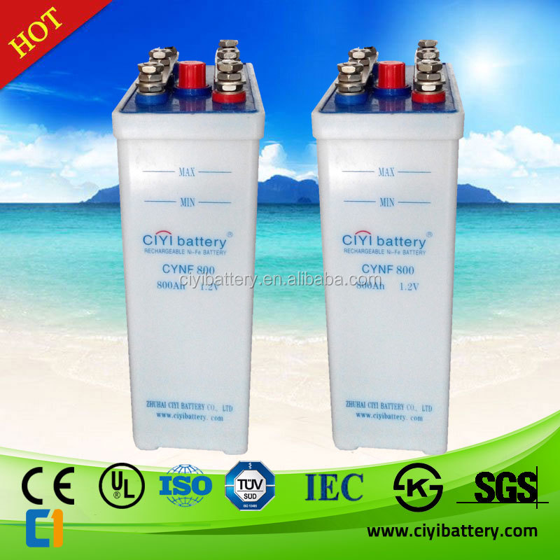 NICD Battery NI-CD Battery Nickel Cadmium Battery 110V 220V 800AH