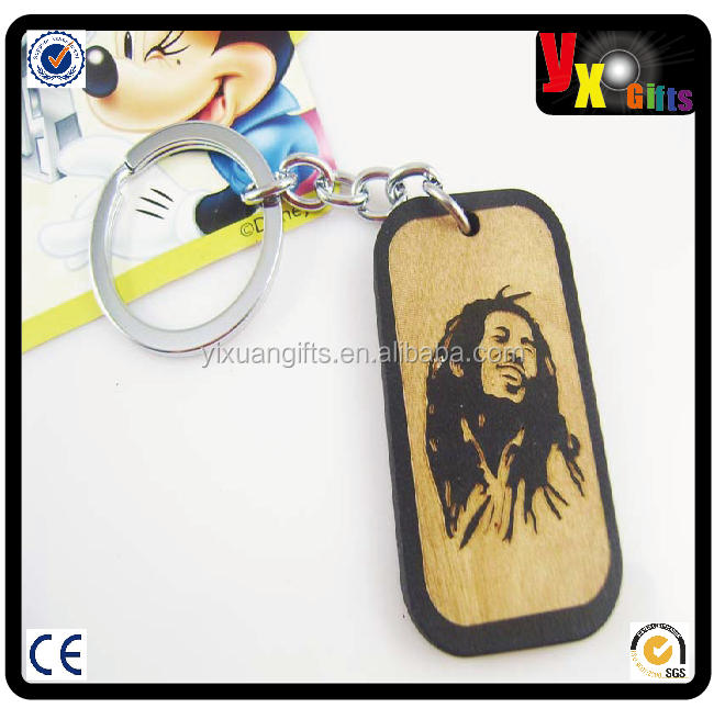 custom keyring light/toyota key chain/with head portrait Wooden Keychain