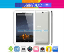 Ainol AX1 Quad Core Tablet PC 7 inch Dual SIM Card Slot 1024x600pix MTK8389 Quad Core 1.2GHz Bluetooth GPS WCDMA 8GB ROM Android