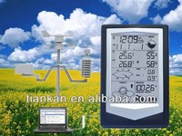 WS1040 Best selling RF433 wireless weather station digital indoor/outdoor Thermometer Hygrometer alarm clock with PC interface