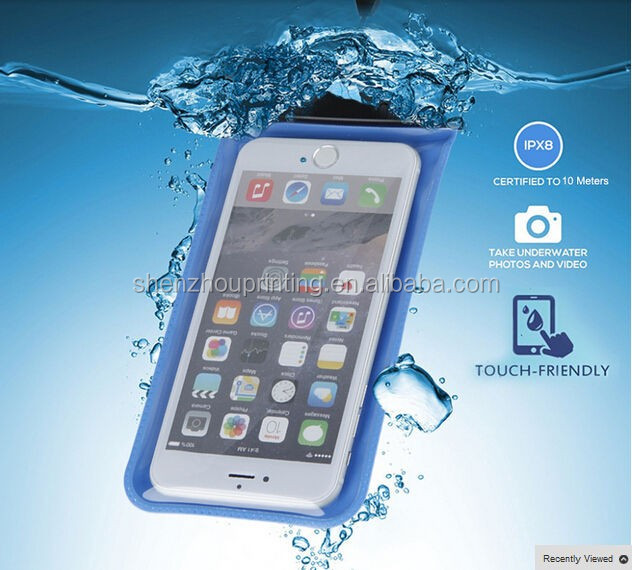 High quality fashion custom made printed clear waterproof case PVC bag for mobile phone