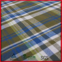 Brushed organic cotton flannel fabric for shirting
