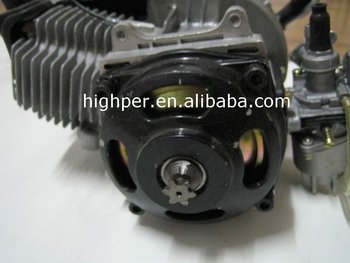 49cc 2-stroke pull starter engine for mini pocket bike