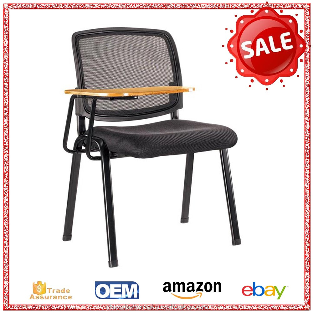 S15# Cheap price fabric training chair with writing table from Foshan manufacturer