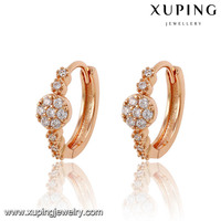 91489-xuping fashion jewelry rose gold fashion earring designs new model earrings