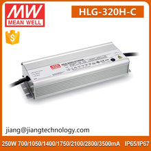 Traic Dimming LED Driver Supply Constant Current LED Driver Waterproof Meanwell LED Driver HLG-320H-C1750B