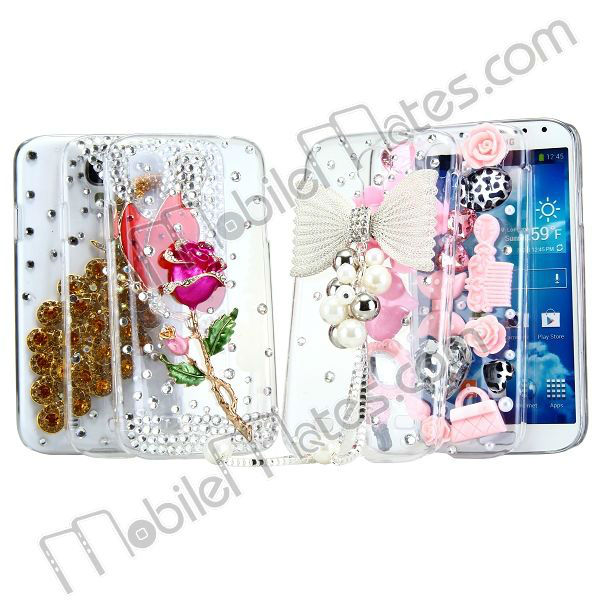 Luxury Crystal Diamond 3D Bing Peacock Back Cover Hard Case for Samsung Galaxy S IV S4 i9500/i9505/i9508