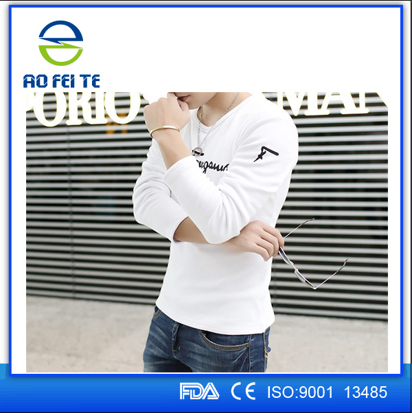 China Manufacturer Wholesale Cheap Top Quality Mens Printing Plain Long Sleeves Sports T Shirt