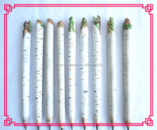 newest design birch wooden bird ball pen craft, wooden pen