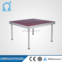 China Manufacturer 1.22x2.44m mobile event aluminum stage