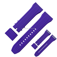 100% Eco Friendly Silicone Rubber/ Rubber Fashion Type 24mm Silicone Watch Bands