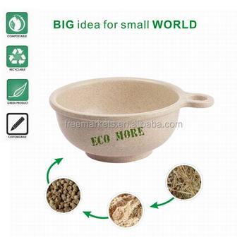 FDA SGS audited Eco-friendly biodegradable wheat fiber dinnerware