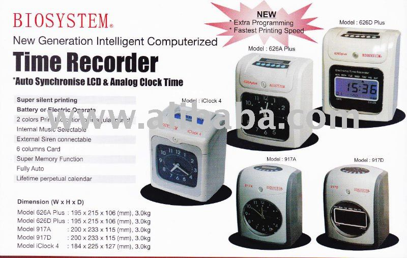 BIOSYSTEM Time Recorder