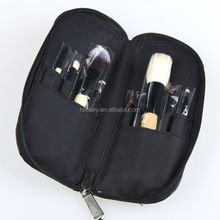 9 PCS Cosmetics Makeup Brushes Set with Black Zipper Leather Bag,Professional Brand Make Up Brushes