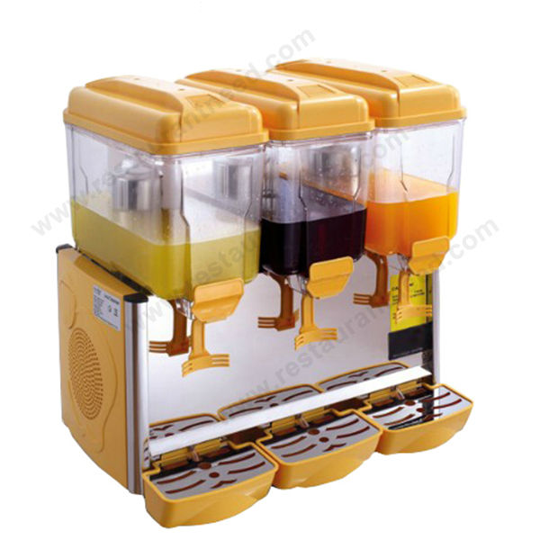 Supplier Single/Double/Triple Head 3 Compartment Lemonade Dispenser