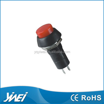 motorcycle red push button switch 12mm switch, 12 volt push button switch reset switch
