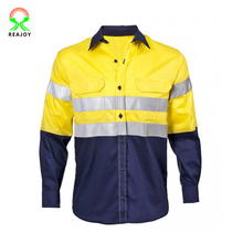 Hot selling long sleeve safety reflective tape work shirt