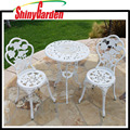 3pcs Patio Furniture Cast Aluminum Bistro Set Antique Round Table & Chair