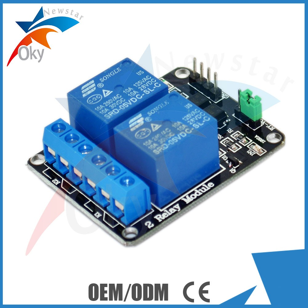 2 Channel 5V / 9V/ 12V/ 24V relay expansion board Relay 5V / 9V/ 12V/ 24V Module