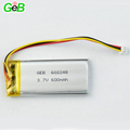 Professional rechargeable 600mAh 602248 3.7V lihtium polymer battery with Certificate