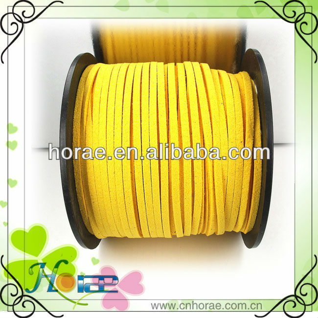 Wholesale 3mm x 1.5mm Faux Suede Cord Leather Lace