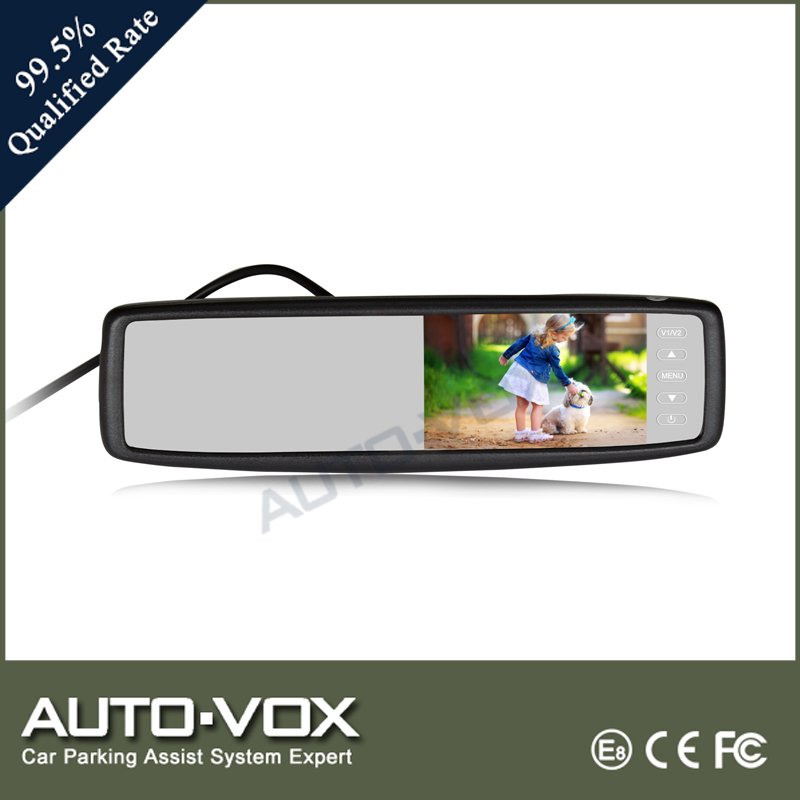 2016 Touch Button Auto-vox Automobile Rearview Mirror Display Car Monitor With Rear View Camera