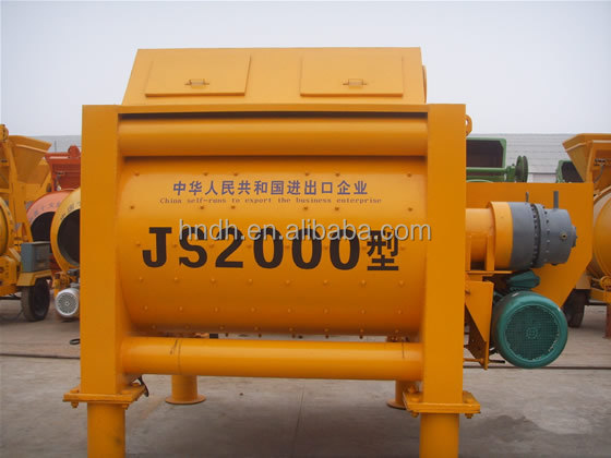 Highlighted efficiency JS2000 twin shaft concrete mixer