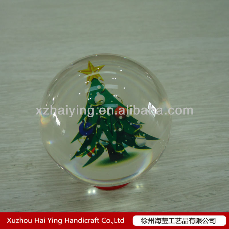 Clear transparent solid acrylic christmas tree ornaments