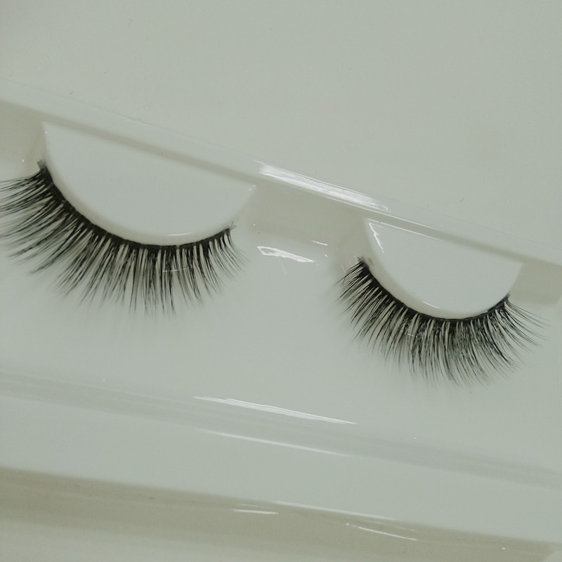 Natural Double Layered Human Hair Strip Lashes With Private Label