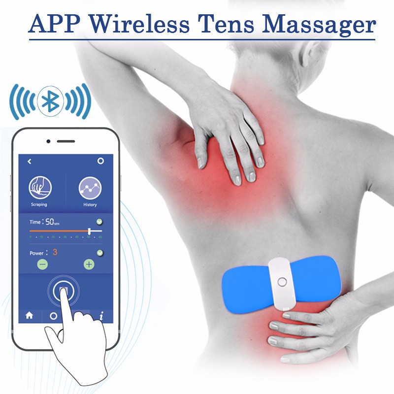 Sunmas New arrival APP phone bluetooth wireless control portable Arthritis Pain Management tens unit