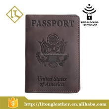 Unisex Passport Holder Cover and Travel Wallet 100% Genuine Leather Protect Your Documents Minimalist Organizer Case