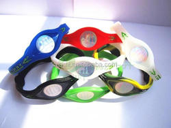 active demand multicolor embossed words blood circulation silicone wristband