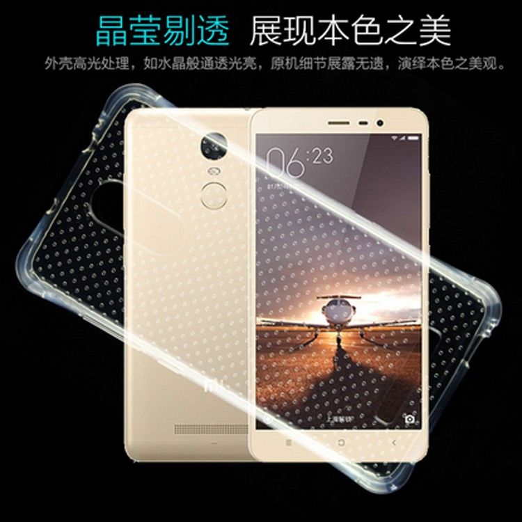 Airbag Shockproof transparent TPU mobile covers case for xiaomi redmi note 3 pro phone cases