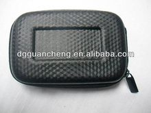 (GC-CA-22) 4.4inch compact black pu camera bag durable foam insert eva camera bag