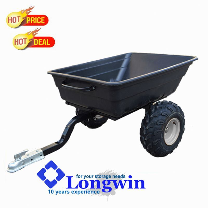Heavy duty outdoor utility pulled tractor cart