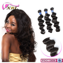 2015 XBL Top 7A Human Hair Double Layers Cheap Peruvian Loose Wave Hair