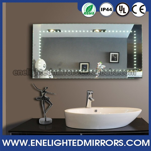 IP44 rated bathroom LED infinity mirror