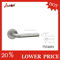 Hot sale stainless steel door handles for indoor with round rosette tube lever handles