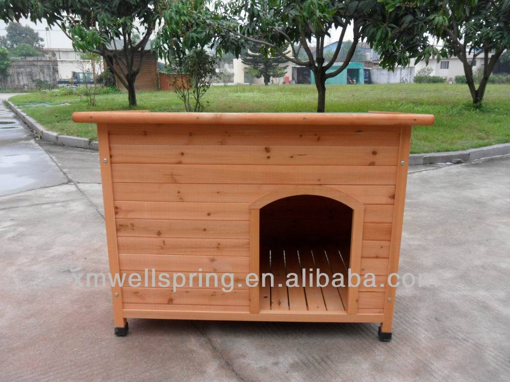 wooden dog house